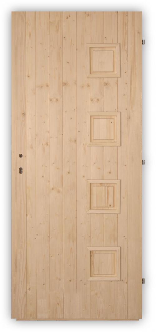 Palubkové dveře Quatro plné - panty