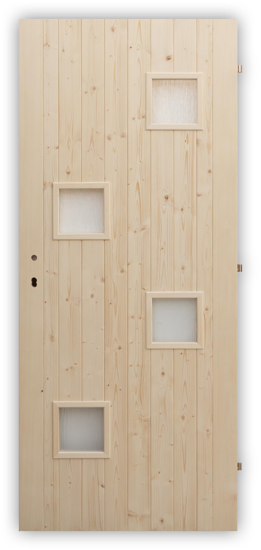 Palubkové dveře Quatro mix - panty