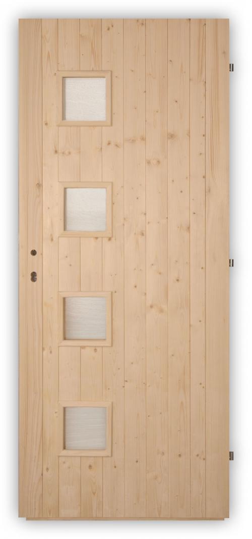 Palubkové dveře Quatro - zámek
