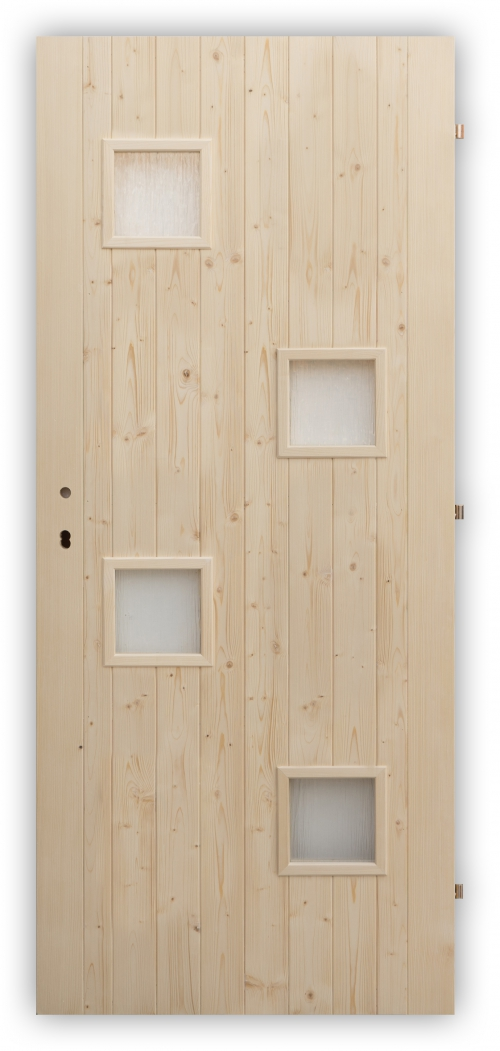 Palubkové dveře Quatro mix - zámek